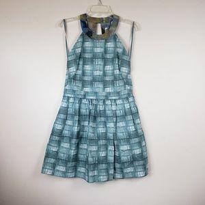 RACHEL Rachel Roy Green & White Sleeveless dress
